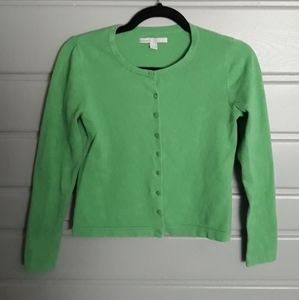 Green Old Navy Buttoned Down Cardigan